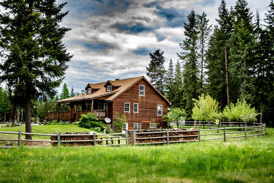 Bonners Ferry Single Family Home For Sale: 514857 Us-95
