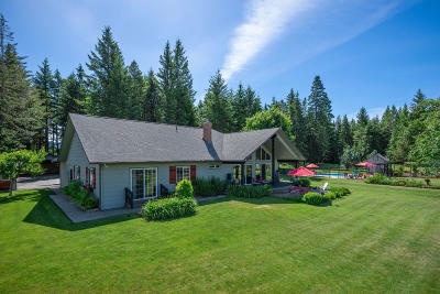 Bonners Ferry Single Family Home For Sale: 1887 Homestead Loop