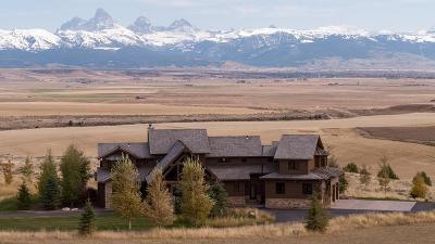 Teton County Single Family Home For Sale: 9095 River Rim Ranch Road