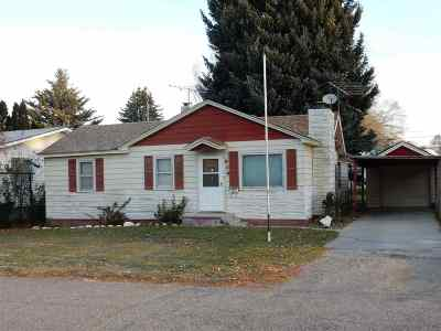 American Falls ID Single Family Home For Sale: $82,900