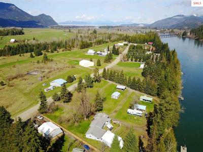 Clark Fork ID Single Family Home For Sale: $856,500