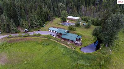 Bonners Ferry Single Family Home For Sale: 8895 Moyie River Rd