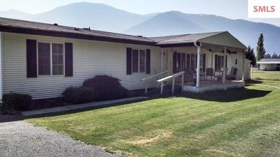 Bonners Ferry Single Family Home For Sale: 3135 Paradise Valley Rd.