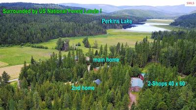 Boundary County Single Family Home For Sale: 3649 Perkins Lake Road (27 Ac)