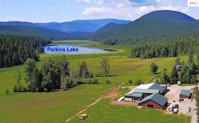 Boundary County Single Family Home For Sale: 3649 Perkins Lake Road