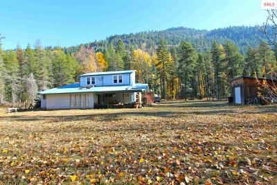 Sandpoint Single Family Home For Sale: 3816 Upper Pack River Rd