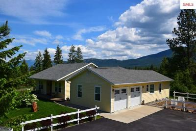 Bonners Ferry Single Family Home For Sale: 695 Pinnacle Circle Rd