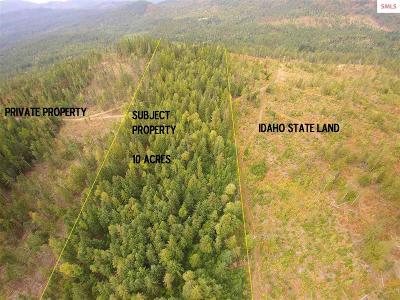 Sandpoint Residential Lots & Land For Sale: (10 Acres ) Williamson Way