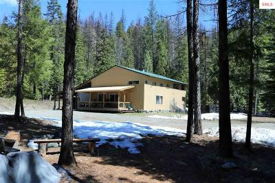 Moyie Springs Single Family Home For Sale: 1589 Perkins Lake Rd