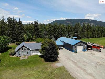 Bonners Ferry Single Family Home For Sale: 181 Gem Parks Rd.