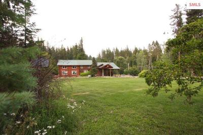 Moyie Springs Single Family Home For Sale: 206 E Whip Saw Rd