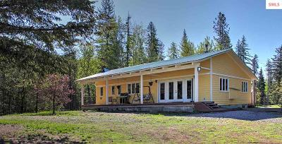 Sandpoint Single Family Home For Sale: 7644 Upper Pack River Road