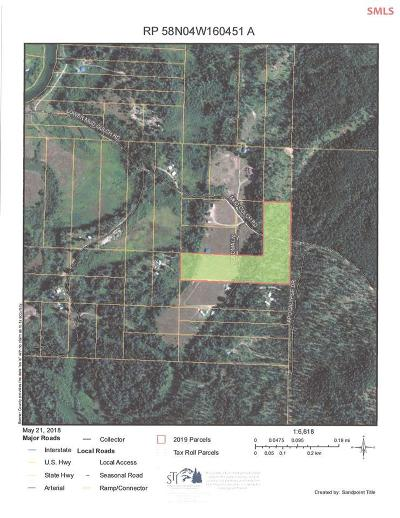 Priest River Residential Lots & Land For Sale: Nnn Mud Gulch Rd
