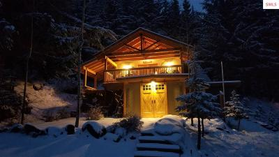 Sandpoint Single Family Home For Sale: 8060 Schweitzer Mtn Rd