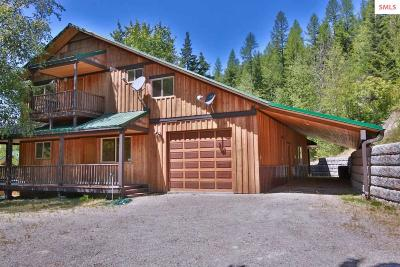 Sandpoint Single Family Home For Sale: 2884 Trout Creek Road