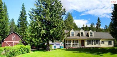 Sagle Single Family Home For Sale: 2859 S Sagle Rd