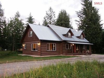 Moyie Springs Single Family Home For Sale: 750 E Mountain View