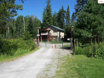 Sandpoint Single Family Home For Sale: 487386 Hwy 95