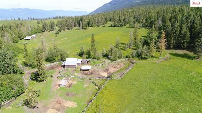 Bonners Ferry Single Family Home For Sale: 886 Wallen Road