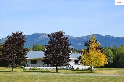 Moyie Springs Single Family Home For Sale: 45 Painted Horse Rd