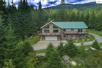 Sandpoint Single Family Home For Sale: 13433-13435 Baldy Mountain Rd