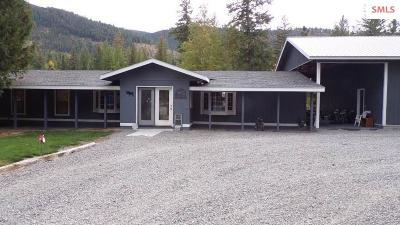 Bonners Ferry Single Family Home For Sale: 3160 Brown Creek