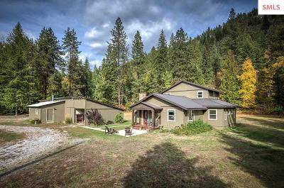 Sandpoint Single Family Home For Sale: 3907 Upper Pack River Rd