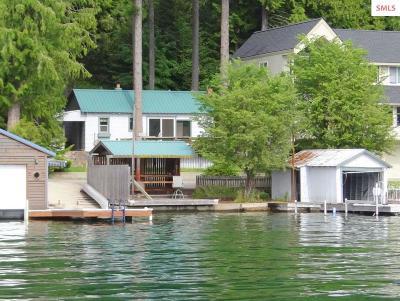 Sagle Single Family Home For Sale: 625 E Bottle Bay