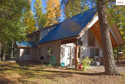 Single Family Home For Sale: 163 Moyie River Rd