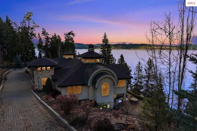 Coeur D'alene Single Family Home For Sale: 4200 S Threemile Point Rd