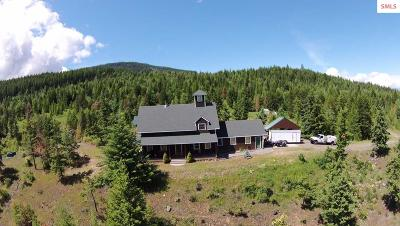 Bonners Ferry  Single Family Home For Sale: 1118 Two Tail Road