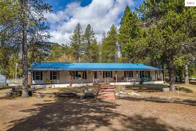 Sandpoint Single Family Home For Sale: 489528 Highway 95