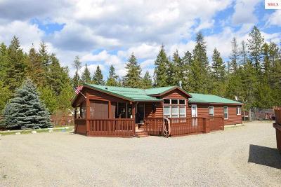 Moyie Springs Single Family Home For Sale: 49 Black Bear Rd