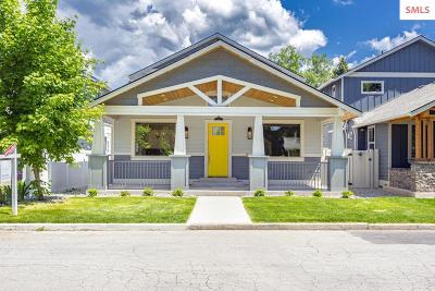 Coeur D'alene Single Family Home For Sale: 614 & 616 N 16th St