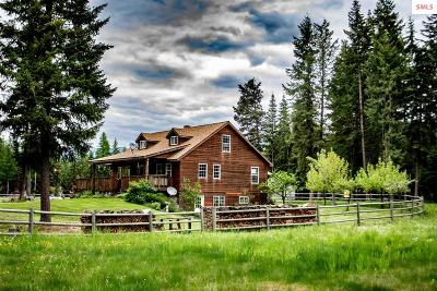 Bonners Ferry Single Family Home For Sale: 514857 Hwy 95