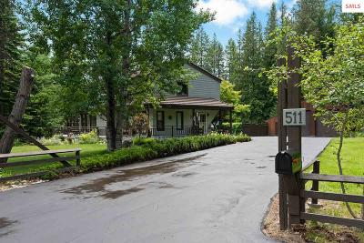 Bonner County, Boundary County, Kootenai County Single Family Home For Sale: 511 Hawkins Rd