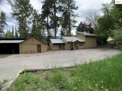 Bonners Ferry Single Family Home For Sale: 66421 Hwy 2