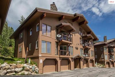 Mountainside, Schweitzer Condo/Townhouse For Sale: 169 Crystal Springs # 502