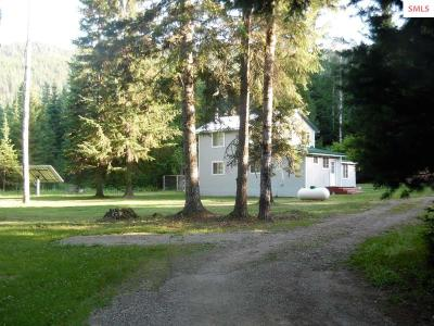 Priest River Single Family Home For Sale: 3694 Lower Quartz Creek Rd