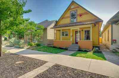 Boise Single Family Home For Sale: 1608 N 12th St