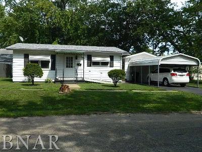 Clinton IL Single Family Home For Sale: $49,900