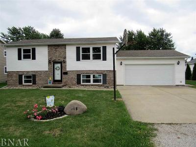 Leroy IL Single Family Home Sale Pending: $121,900