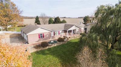 Wapella Single Family Home For Sale: 14668 Autumn Rd