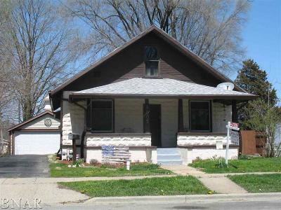Clinton IL Single Family Home For Sale: $72,500