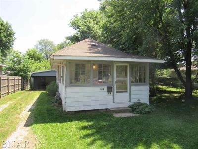 Lincoln IL Single Family Home For Sale: $23,000