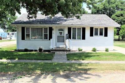 Wapella IL Single Family Home For Sale: $76,500