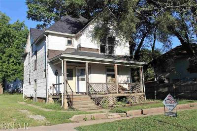 Clinton IL Single Family Home For Sale: $18,900