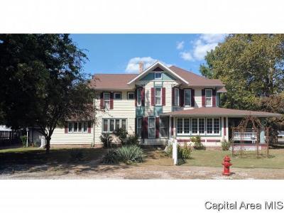 Virden Single Family Home For Sale: 505 N Springfield St