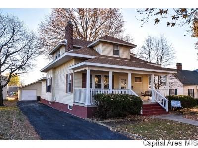 Virden Single Family Home For Sale: 128 S Springfield St