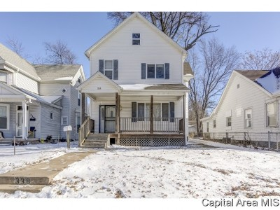 Springfield Single Family Home For Sale: 338 S State St